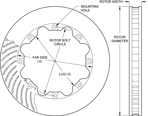 HD 36 Curved Vane Rotor Drawing