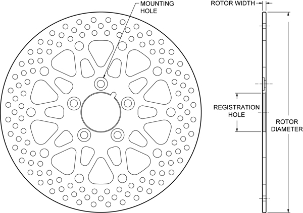 Motorcycle Rotor Drawing