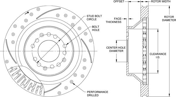 wilwood disc brakes rotor no 160 12189 bk. Black Bedroom Furniture Sets. Home Design Ideas