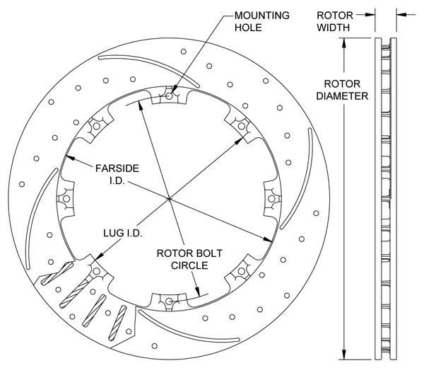 wilwood disc brakes rotor no 160 7104 bk. Black Bedroom Furniture Sets. Home Design Ideas