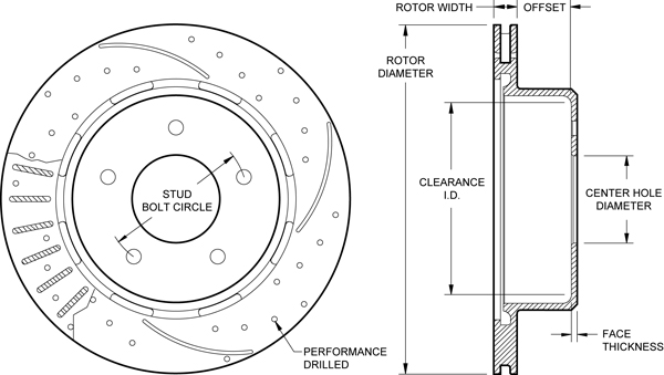 wilwood disc brakes rotor no 160 12171 bk test rh wilwood com Brake Caliper Diagram Car Brake Diagram