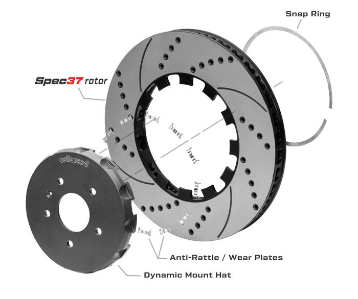 SRP Rotor & Lug Drive Hat Assembly Dimension Diagram