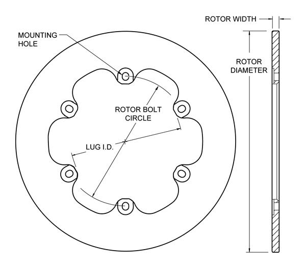 wilwood disc brakes rotor no 160 3305. Black Bedroom Furniture Sets. Home Design Ideas