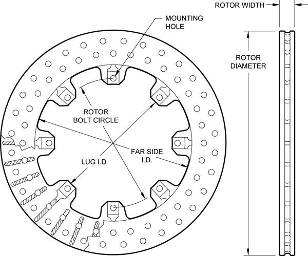 wilwood disc brakes rotor no 160 5863. Black Bedroom Furniture Sets. Home Design Ideas