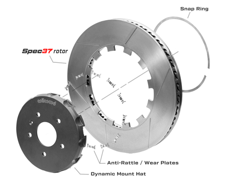 GT Rotor & Lug Drive Hat Assembly Dimension Diagram