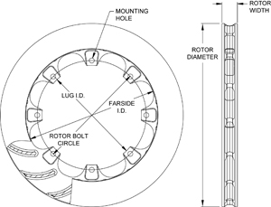 ULHD 16 Curved Vane Rotor Dimension Diagram
