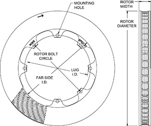 HD 48 Curved Vane Rotor Drawing