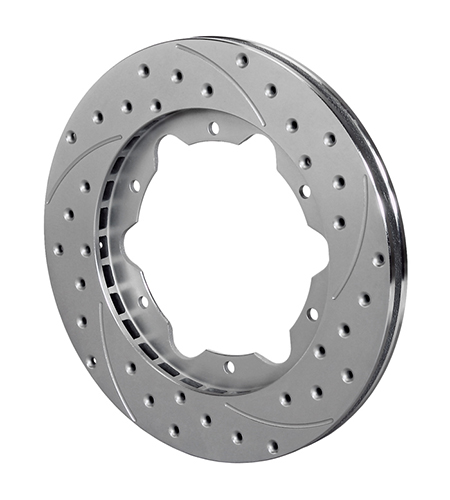 SRP-Z Drilled Rotor - Iron - Zinc Plate
