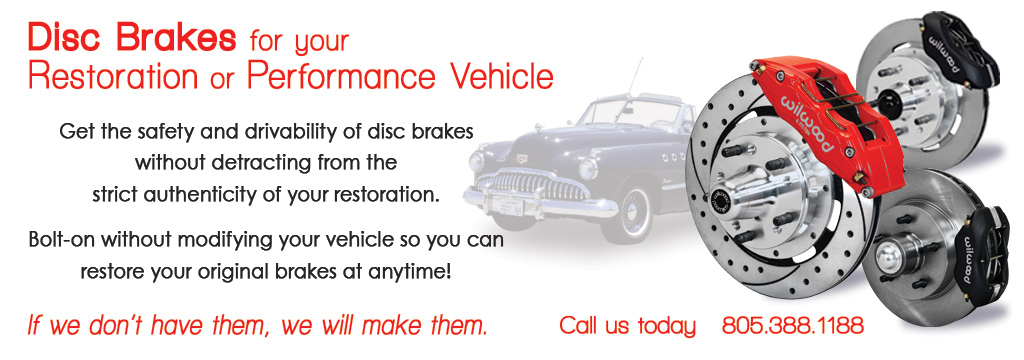 Disc Brakes for your Restoration or Performance Vehicle