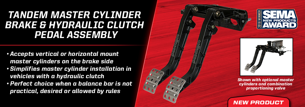 Tandem MC Brake and Clutch Pedal Assembly