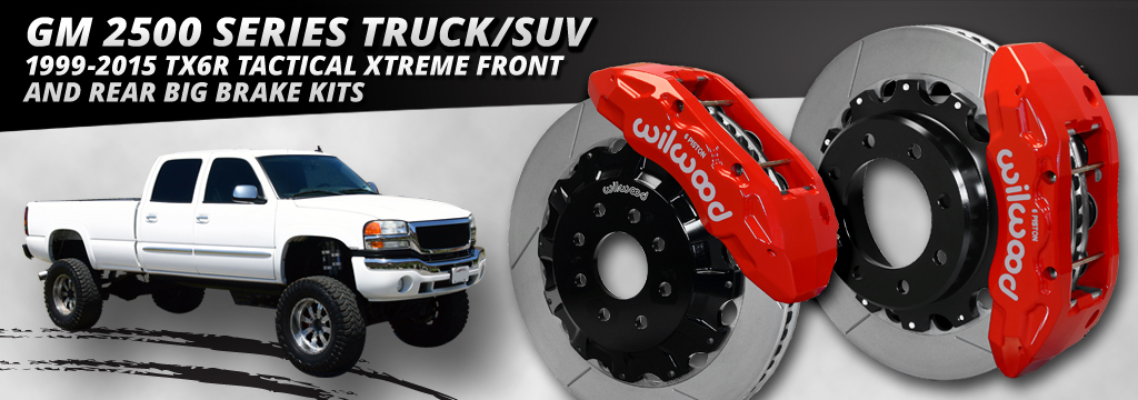 GM 2500 Series Truck/SUV 1999-2015 TX6R Tactical Xtreme Front and Rear Big Brake Kits