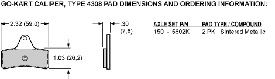 Pad Dimensions for the Billet Go-Kart