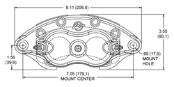 D52 Dual Piston Floater Caliper Drawing