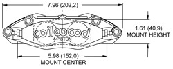 Dynapro Radial Mount Caliper Drawing