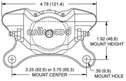 Dynapro Single Caliper Drawing