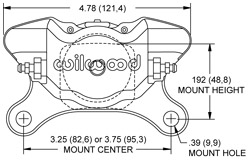 Dynapro Single LW Caliper Drawing