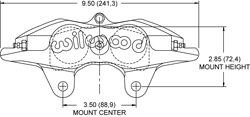 Forged Superlite Internal 4 Caliper Drawing