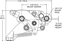 HM1 Hydra-Mechanical Caliper Drawing