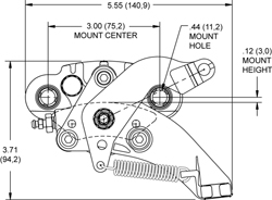 HM5 Hydra-Mechanical Caliper Drawing