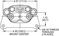 SC10 2 Piston Caliper Drawing