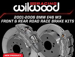Wilwood Disc Brakes Announces New Front and Rear Road Race Brake Kits for the BMW E46 M3