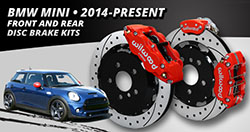 2014 – 2016 BMW Mini Cooper Front and Rear Brake Kits