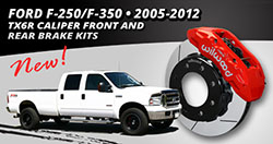 2005 – 2012 Ford F-250/F-350 TX6R Front and Rear Brake Kits