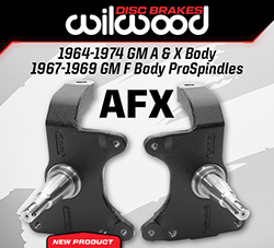 "Wilwood Disc Brakes Announces New GM AFX Body 2"" Drop ProSpindles and Disc Brake Kits"