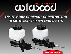 "Wilwood Disc Brakes Announces New 15/16"" Bore Compact Combination Remote Master Cylinder Kits"