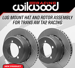 Wilwood Disc Brakes Announces New Lug Mount Hat and Rotor Assembly for the Trans Am TA2 Racing